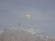 Zugspitzgipfel im Nebel