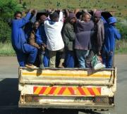 Fahrt zur Arbeit in Südafrika